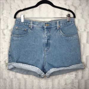 Vintage Bill Bass High Waisted Mom Jean Shorts